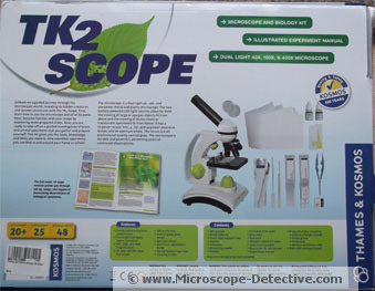 Back of the TK2 Scope www.microscope-detective.com/microscope-for-kids.html