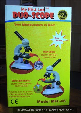 The My First Lab Duo-Scope Microscope www.microscope-detective.com/my-first-lab-microscope.html