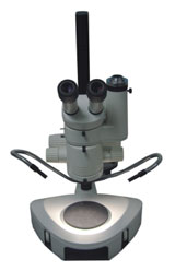 A stereo microscope from the back