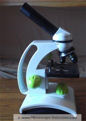 TK2 Microscope for kids assembled www.microscope-detective.com/microscope-for-kids.html