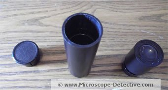 Ocular lens and tube of the TK2 microscope for kids www.microscope-detective.com/microscope-for-kids.html