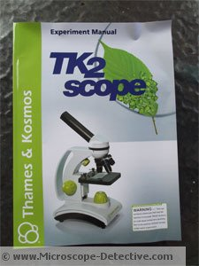 Manual of the TK2 microscope for kids www.microscope-detective.com/microscope-for-kids.html